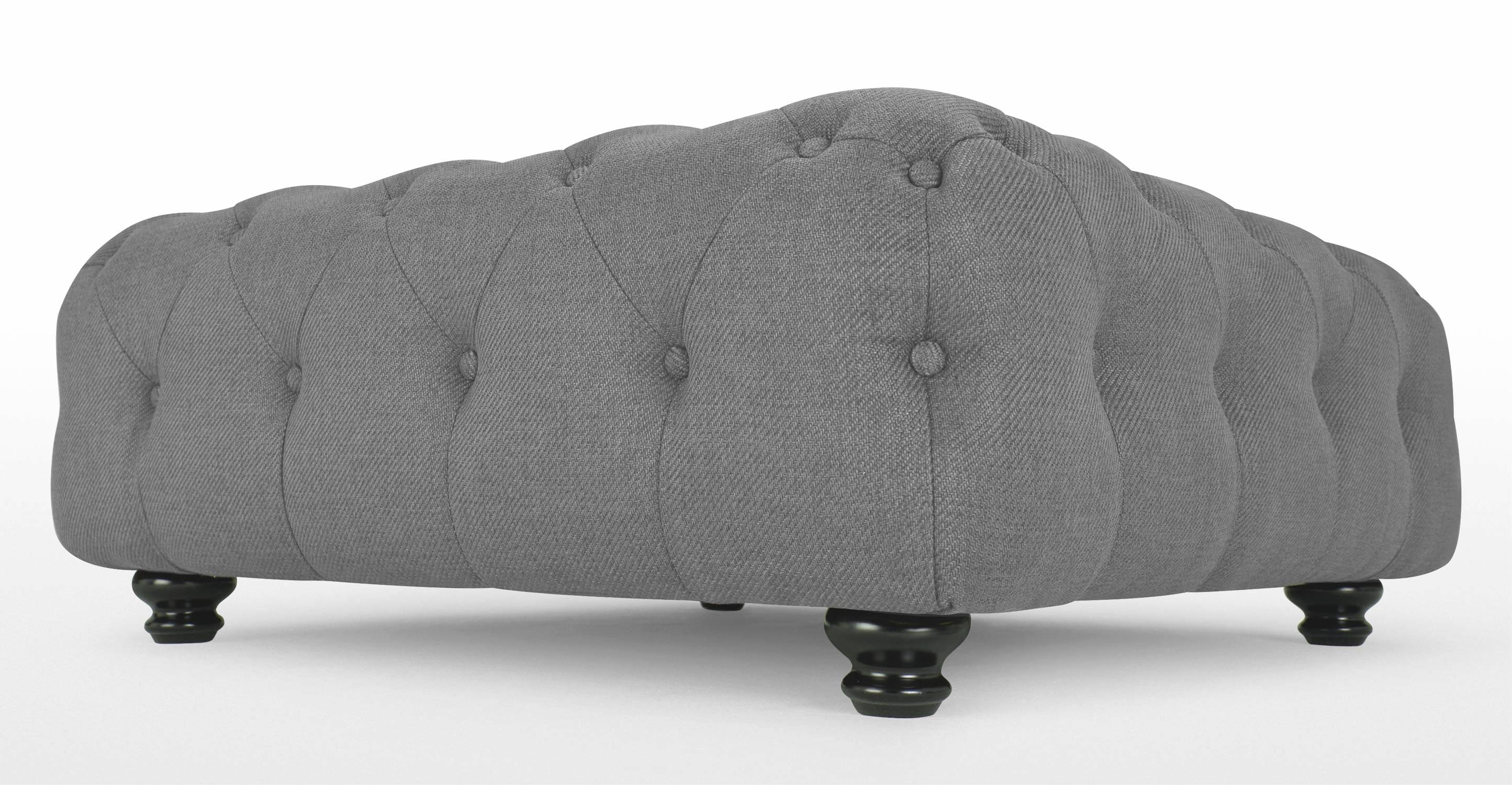 Branagh Large Footstool In Pearl Grey | Made with regard to Large Footstools (Image 13 of 30)