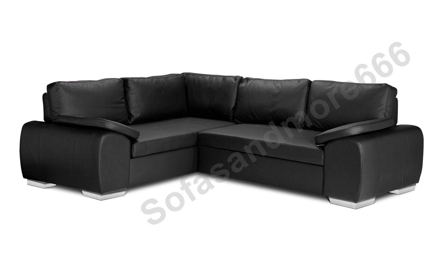 Brand New Enzo Corner Sofa Bed With Storage Black Brown Cream Faux with regard to Leather Corner Sofa Bed (Image 4 of 30)