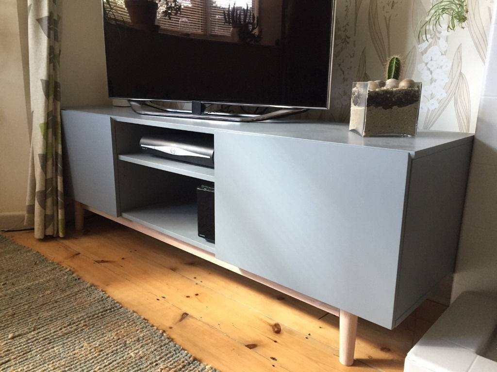Brand New – Matt Grey / Wood Modern Tv Stand / Cupboard With Regard To Sideboards And Tv Stands (View 7 of 30)