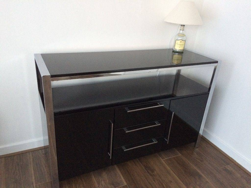 Brand New Modern High Gloss 2 Door 3 Drawer Sideboard Fully pertaining to Fully Assembled Sideboards (Image 9 of 30)