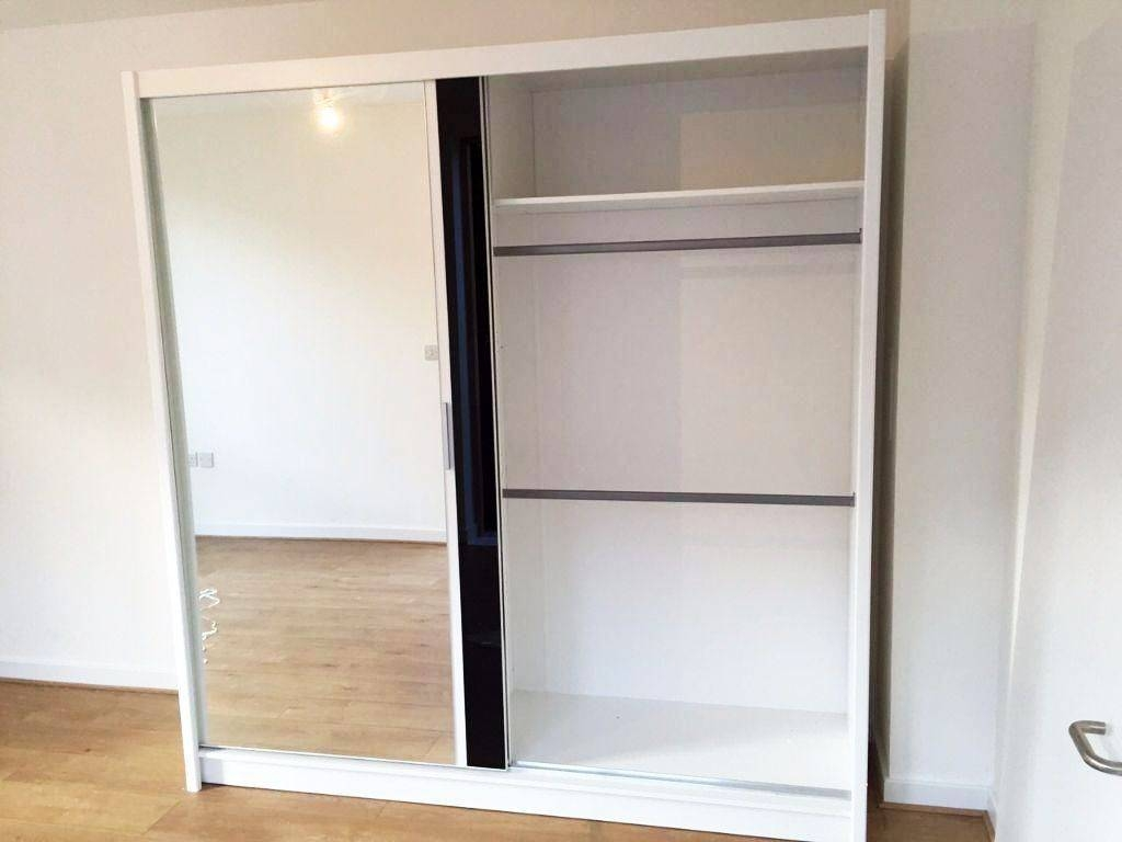 Brand New Sterlin 2 Door Sliding Wardrobe With Mirrors, Shelves For Double Hanging Rail Wardrobes (View 11 of 30)