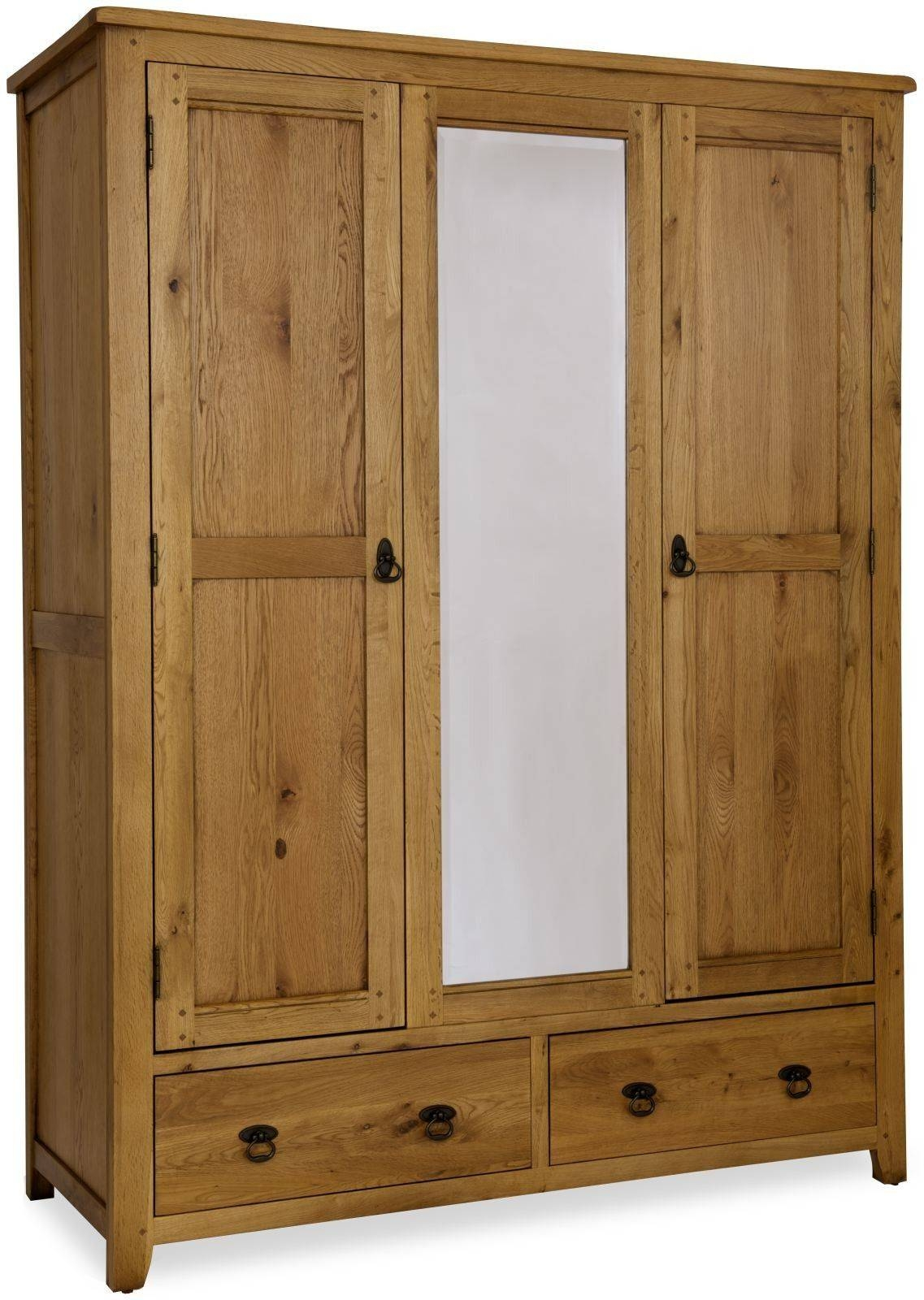 Brands :: Classic Furniture :: Verona :: Classic Furniture Verona in Triple Wardrobes With Mirror (Image 2 of 15)