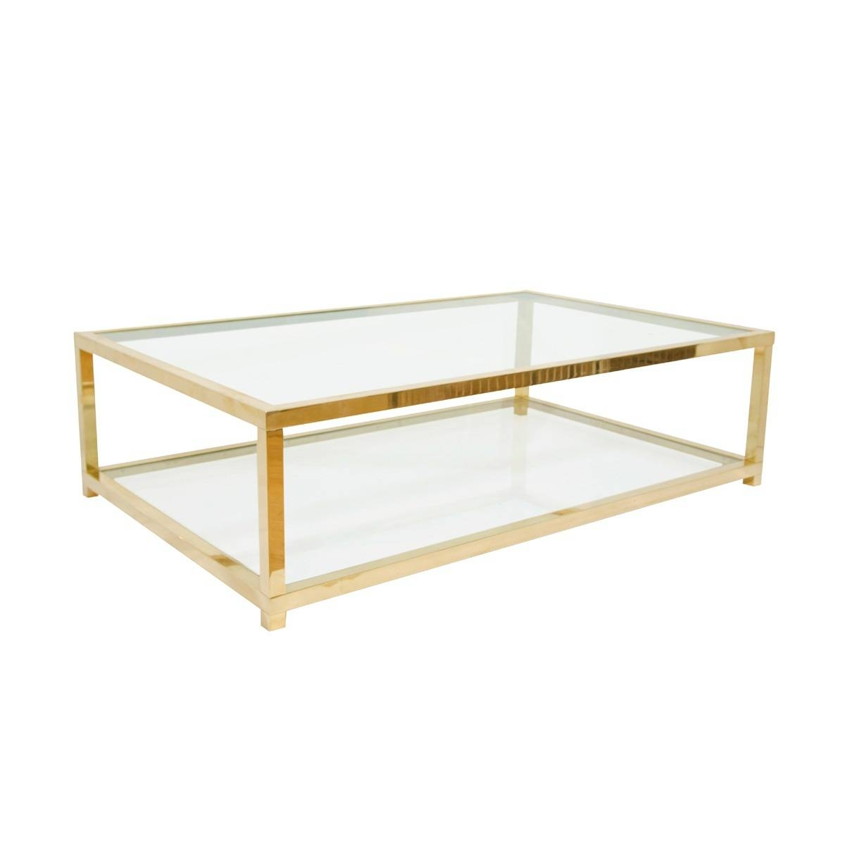 Brass Glass Coffee Table – Brass Glass Top Coffee Table, Elegant inside Antique Brass Glass Coffee Tables (Image 9 of 37)
