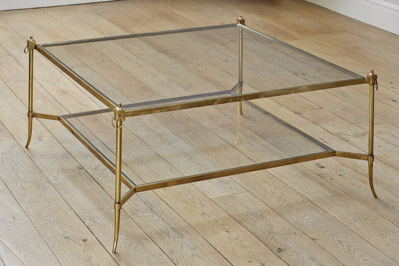 Brass Glass Coffee Table | Idi Design with Large Square Glass Coffee Tables (Image 7 of 30)