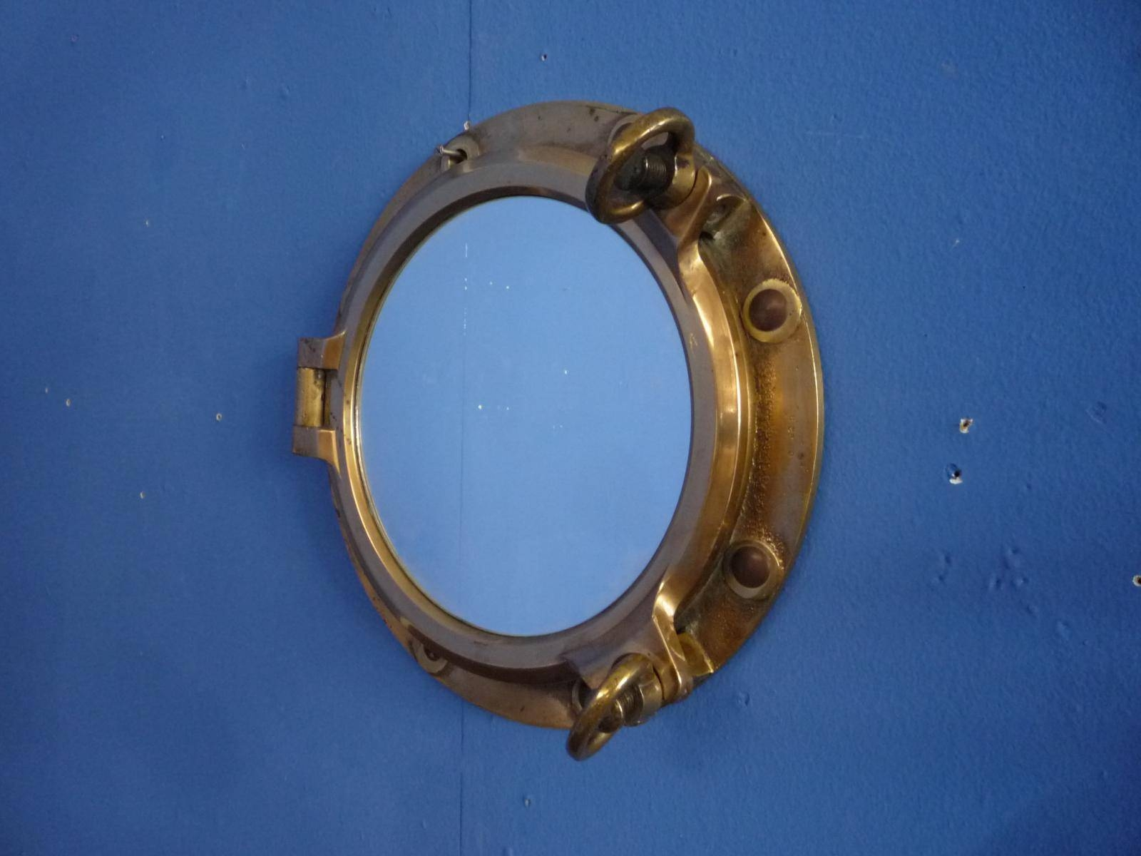 Brass Porthole Wall Mirror, 1930S For Sale At Pamono inside Porthole Wall Mirrors (Image 9 of 25)