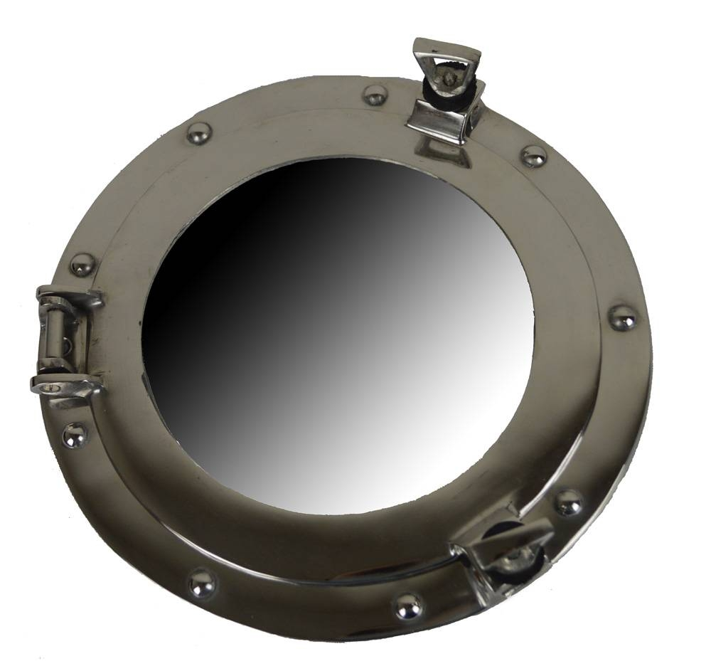 Brass Ships Porthole Mirrors Nickle Finish Porthole Mirrors Chrome Within Chrome Porthole Mirrors (View 10 of 25)