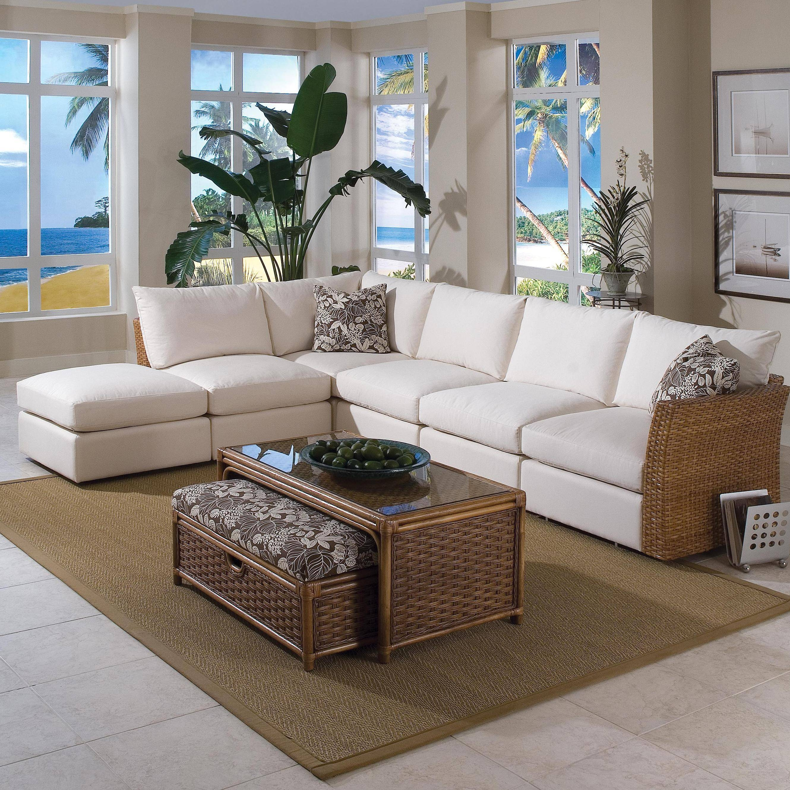 Braxton Culler Grand Water Point Tropical Sectional Sofa With Two in Braxton Sectional Sofa (Image 2 of 30)