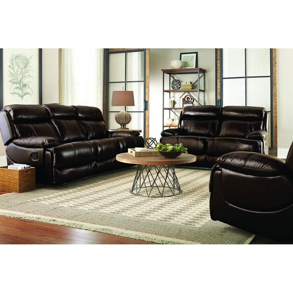 Braxton Leather Living Room - Reclining Sofa & Loveseat (Uxw9872 with Braxton Sofa (Image 6 of 30)