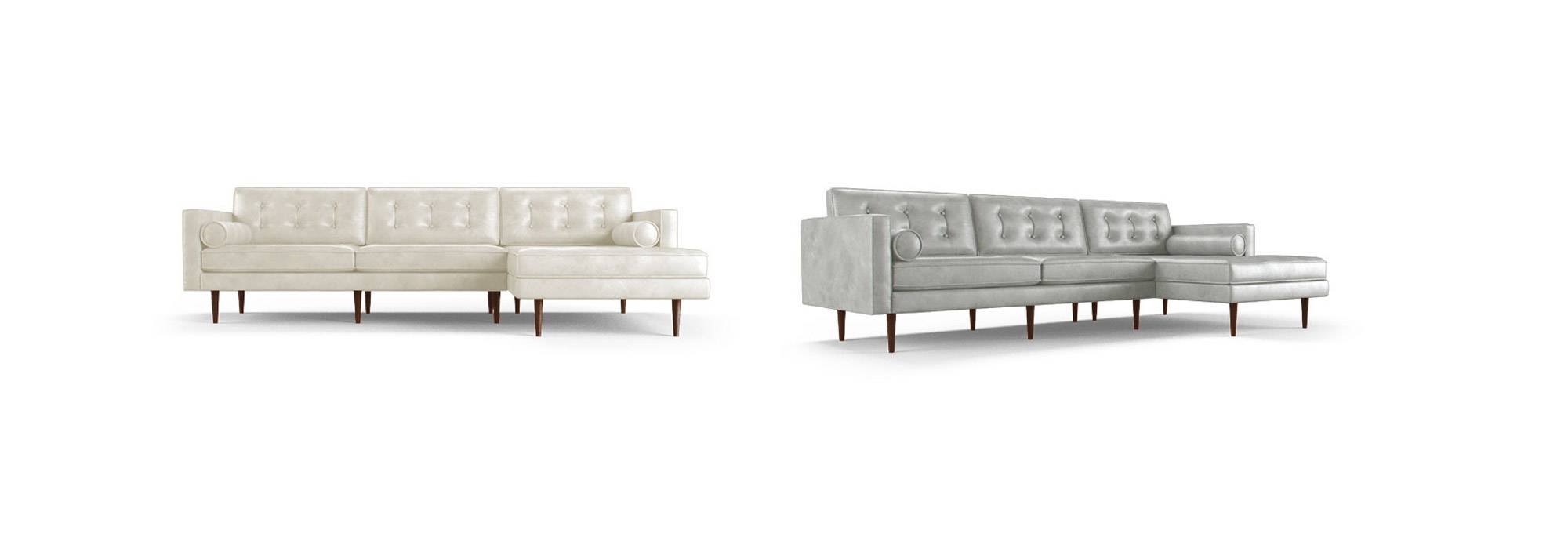 Braxton Leather Sectional | Joybird in Braxton Sectional Sofa (Image 4 of 30)