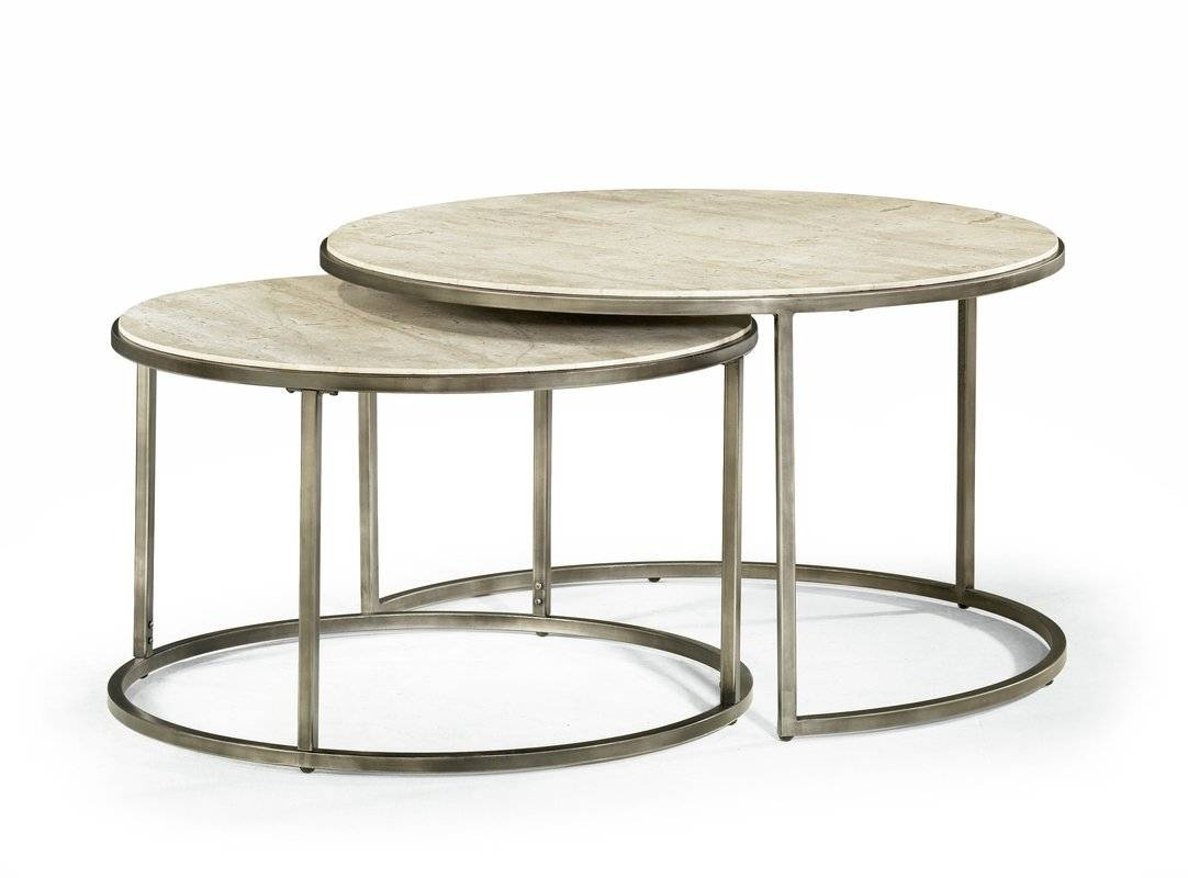 Brayden Studio Masuda Nesting Coffee Table & Reviews | Wayfair regarding Coffee Tables With Nesting Stools (Image 8 of 30)