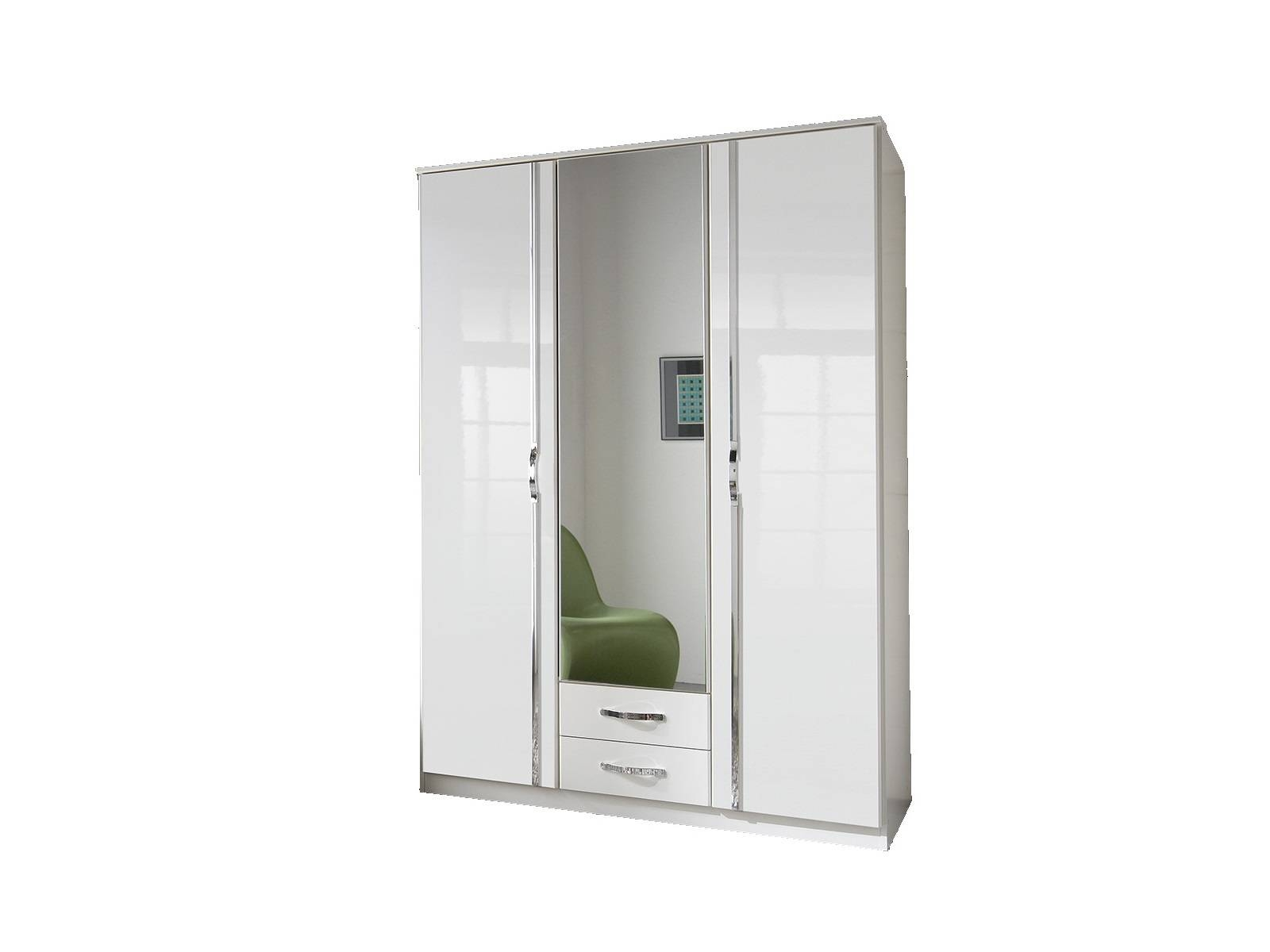 Bremen Triple Wardrobe (White Gloss) | All Ranges | Cousins Furniture Intended For Wardrobes White Gloss (View 9 of 15)