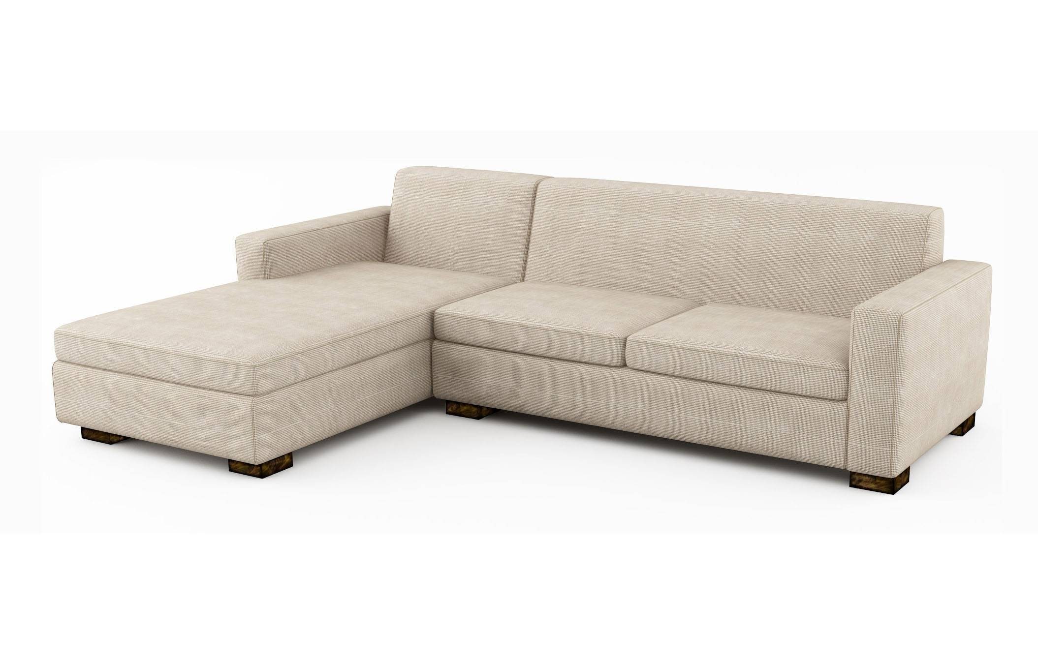 Brenem Chaise Sectional With Sofa Bed | Viesso throughout Cushion Sofa Beds (Image 3 of 30)