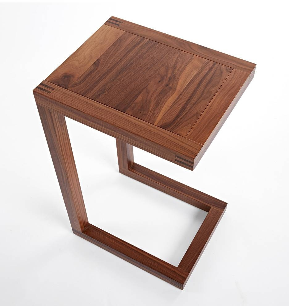Brewer C-Shape Side Table | Rejuvenation throughout C Coffee Tables (Image 5 of 30)