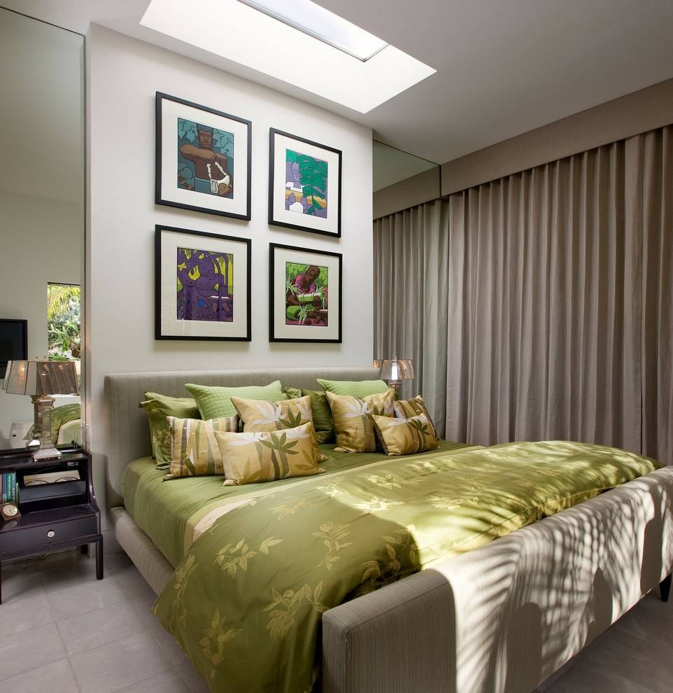 Bright Coloured Photo Frames Bedroom Eclectic With Gallery Wall inside Bright Coloured Mirrors (Image 16 of 25)