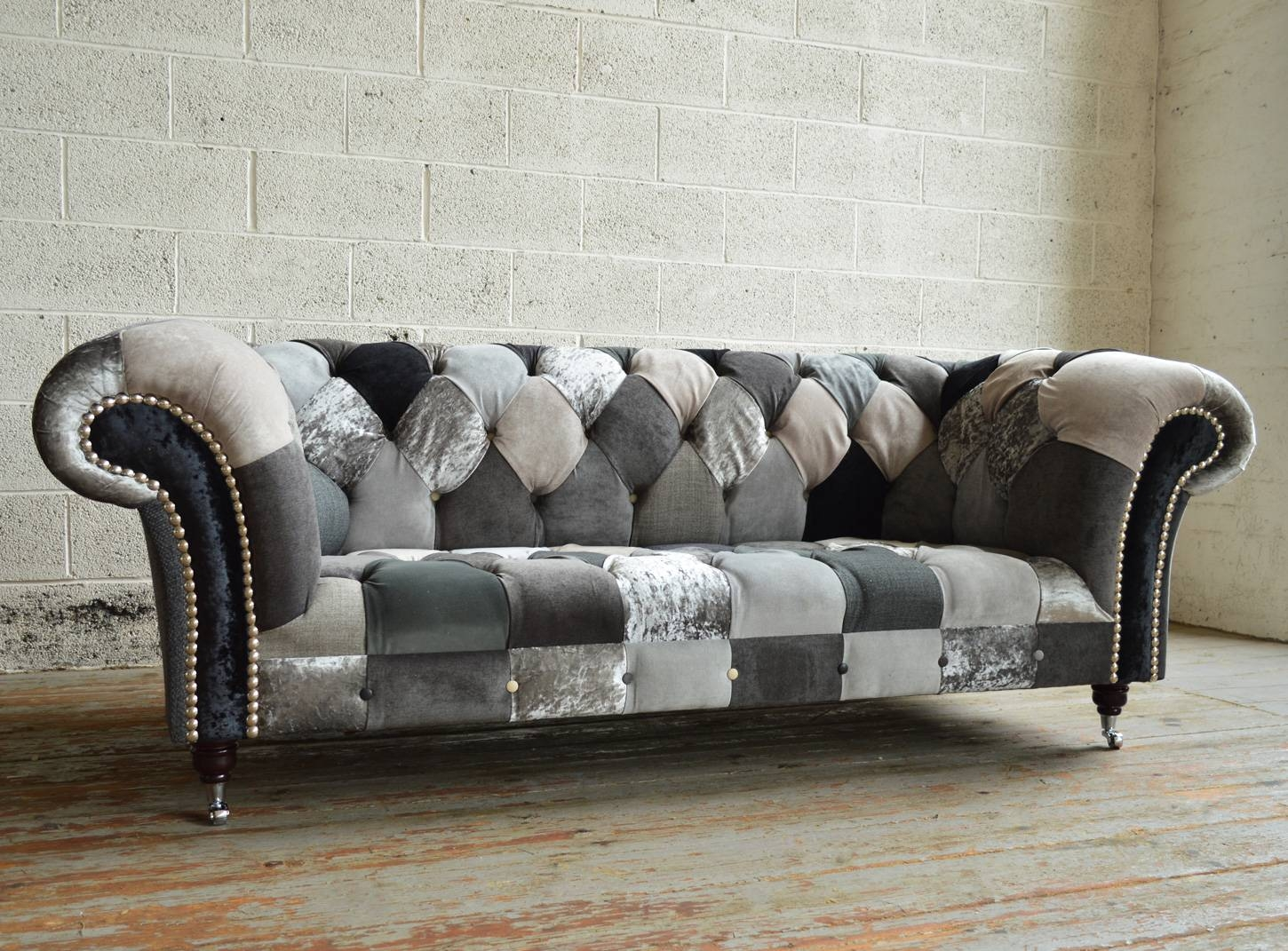 Brighton Patchwork Chesterfield Sofa | Abode Sofas Within Chesterfield Sofas (View 6 of 30)