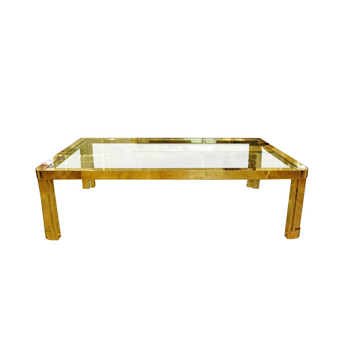 Brilliant Brass And Glass Coffee Table For Living Room – Brass And inside Vintage Glass Top Coffee Tables (Image 5 of 30)