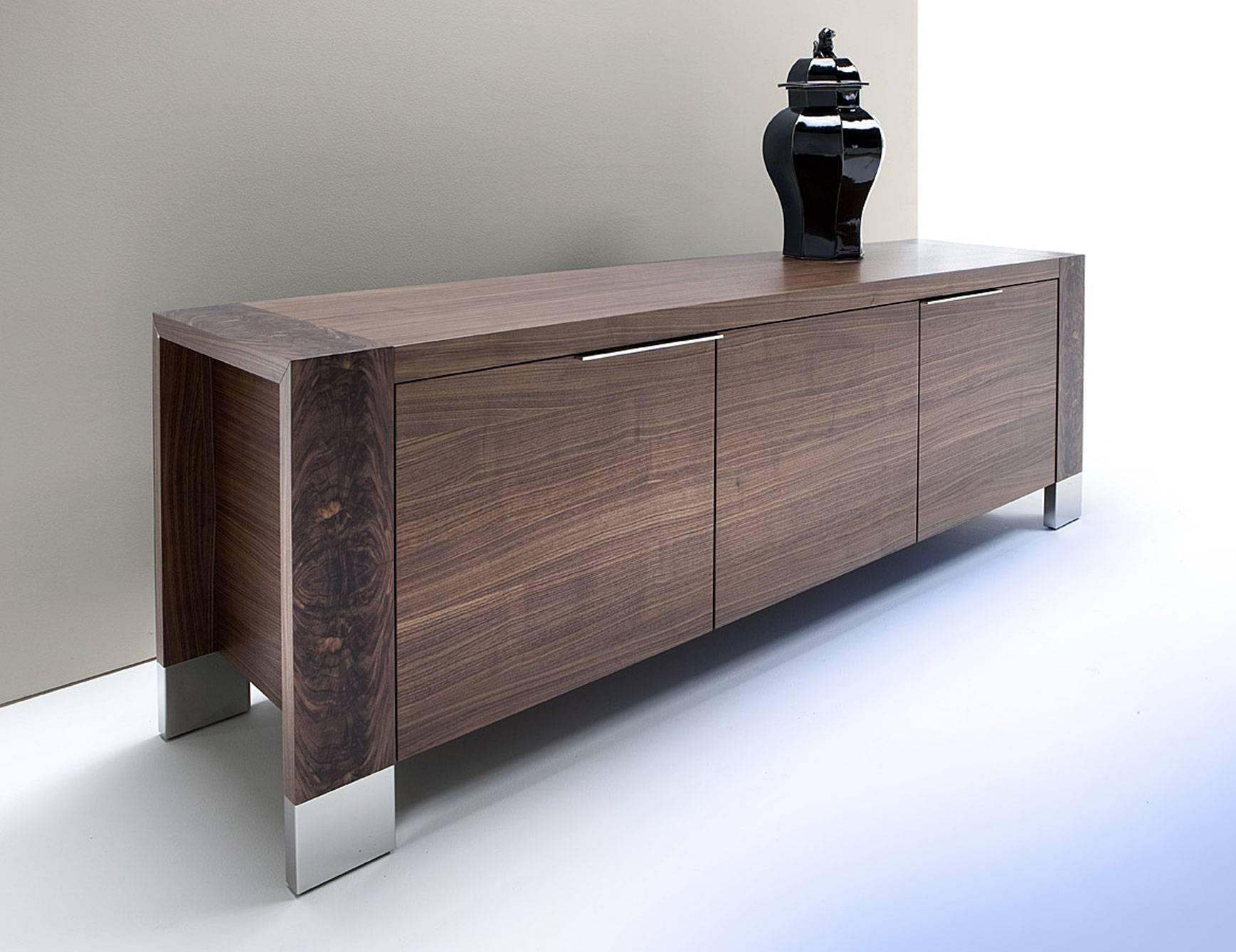 Brilliant Dining Room Buffets Sideboards With Rectangular Shape inside Black and Silver Sideboards (Image 6 of 30)