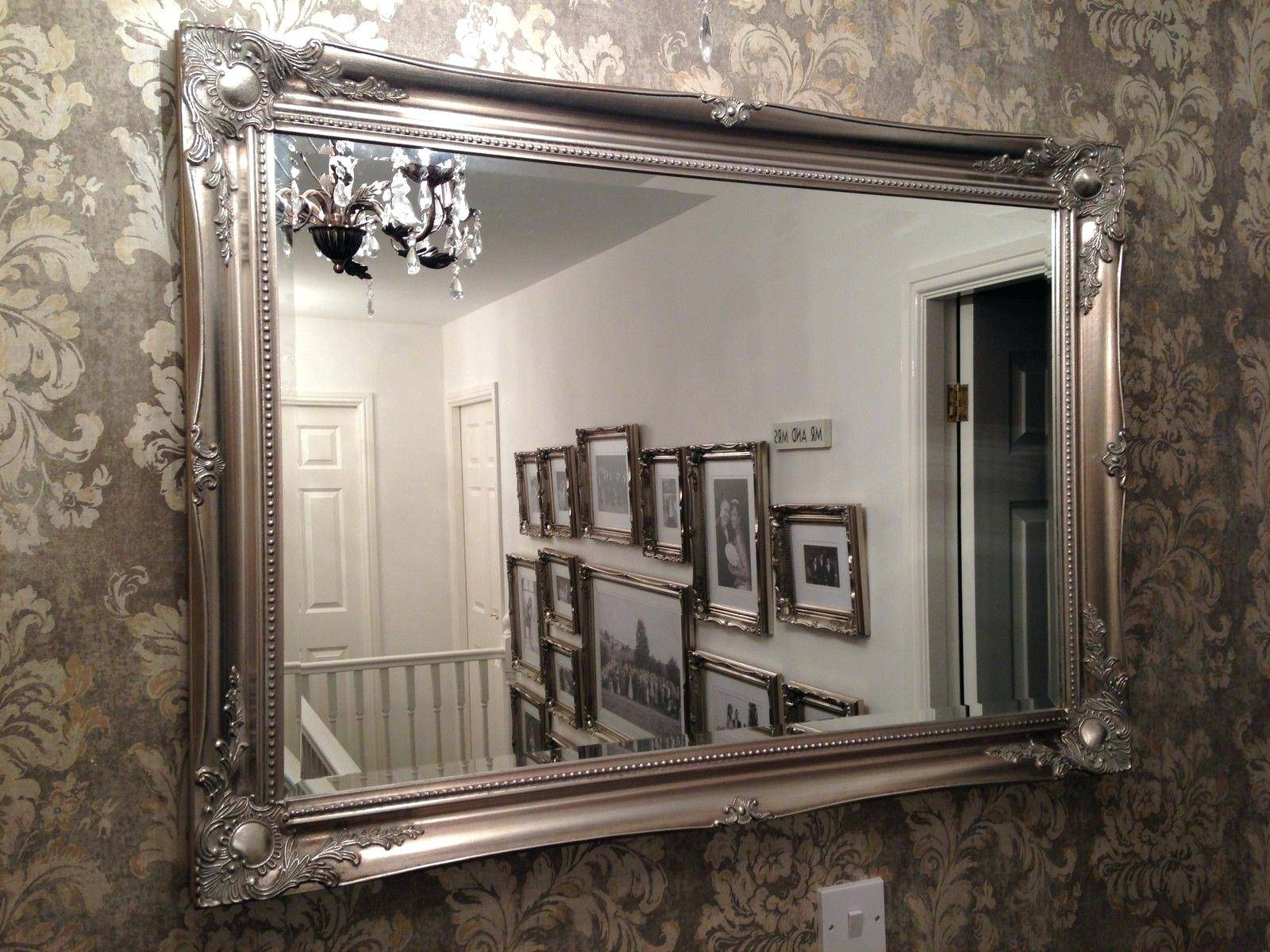 Brilliant Ideas Fancy Wall Mirrors Lovely Idea 23 Decorative within Big Silver Mirrors (Image 10 of 25)
