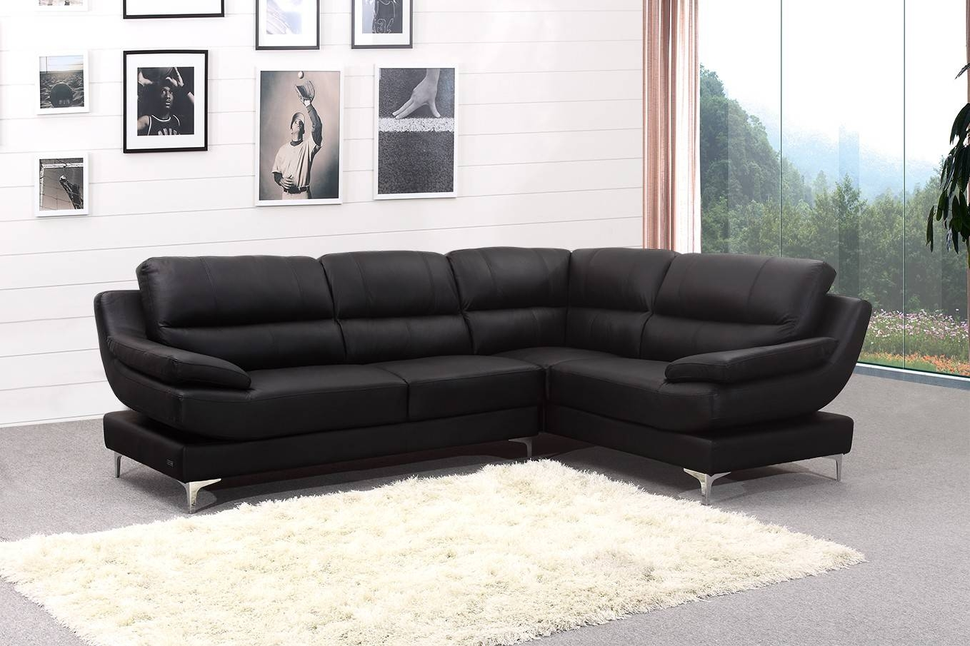 Brilliant Leather Corner Sofa Leather Corner Sofas Groups In A with Large Black Leather Corner Sofas (Image 5 of 30)