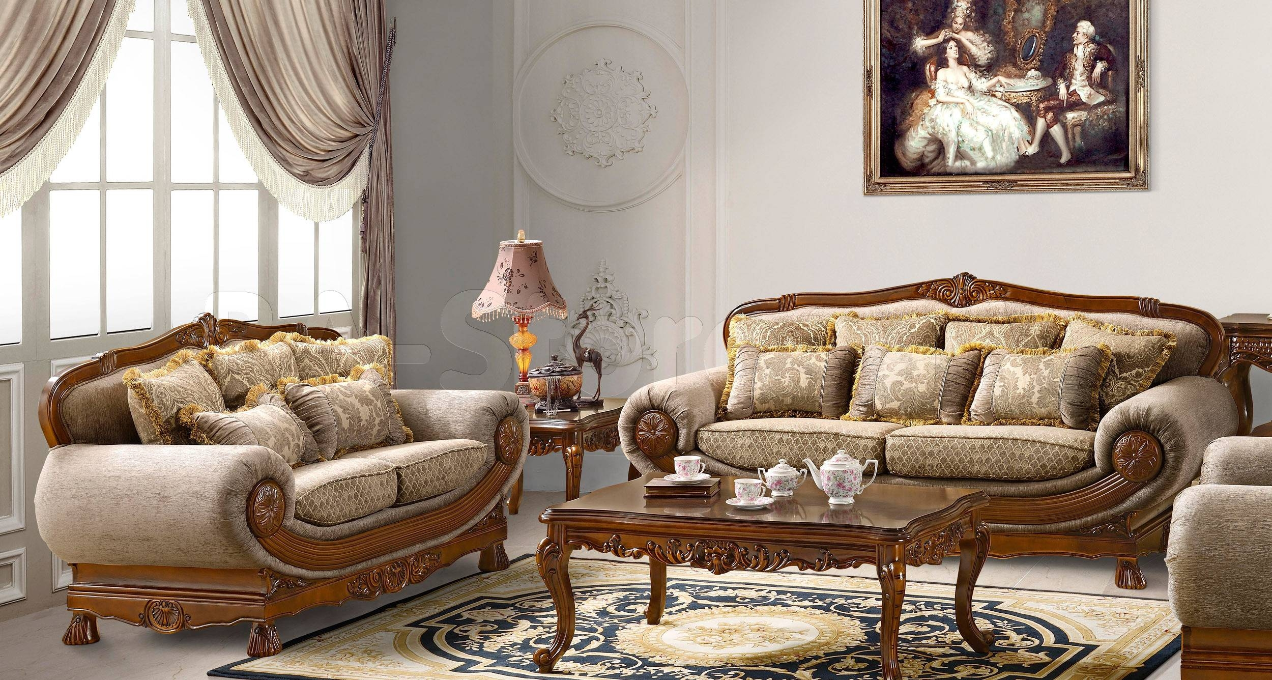 Brilliant Traditional Sofa Designs Picture Throughout Decor pertaining to Traditional Sofas And Chairs (Image 1 of 15)