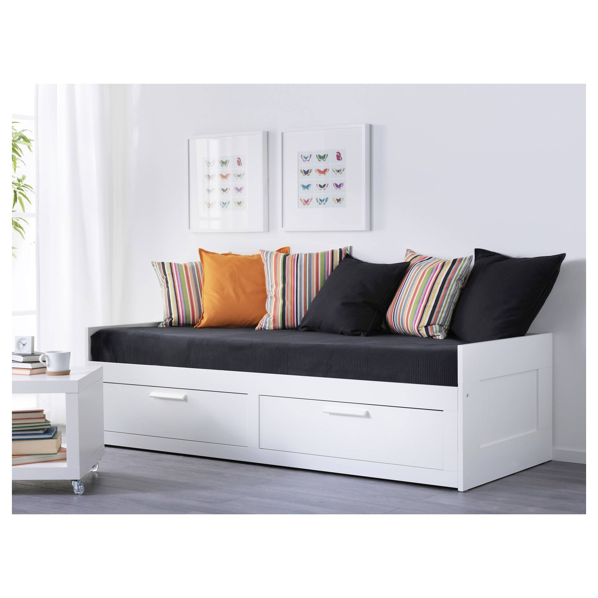 Brimnes Daybed Frame With 2 Drawers - Ikea for Sofa Day Beds (Image 7 of 30)