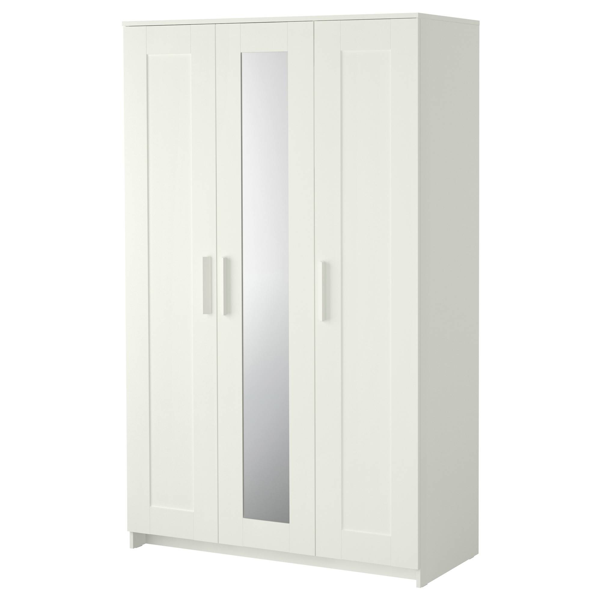 Brimnes Wardrobe With 3 Doors - White - Ikea inside 3 Door White Wardrobes (Image 3 of 30)