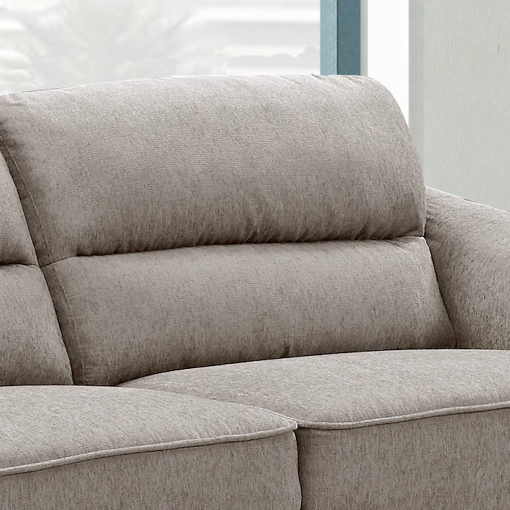Bristol Chenille Fabric Light Grey / Mink Sofa Collection intended for Bristol Sofas (Image 1 of 30)