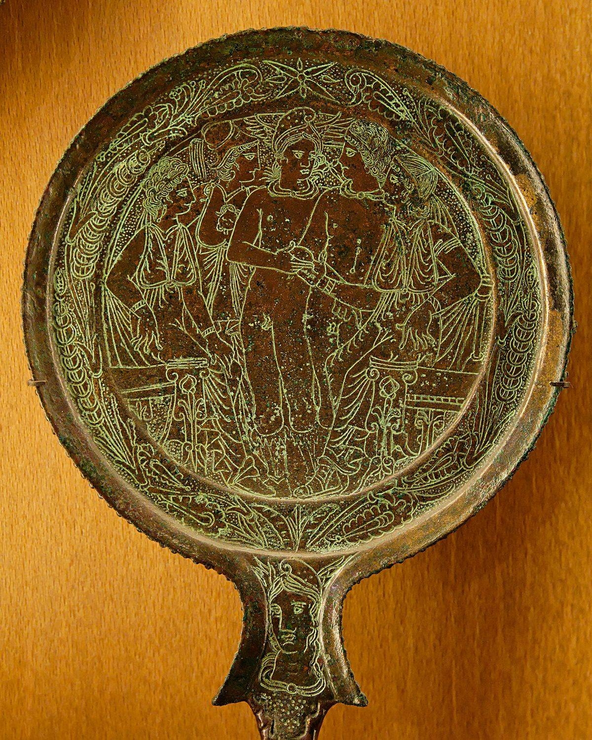 Bronze Mirror - Wikipedia within Chinese Mirrors (Image 11 of 25)