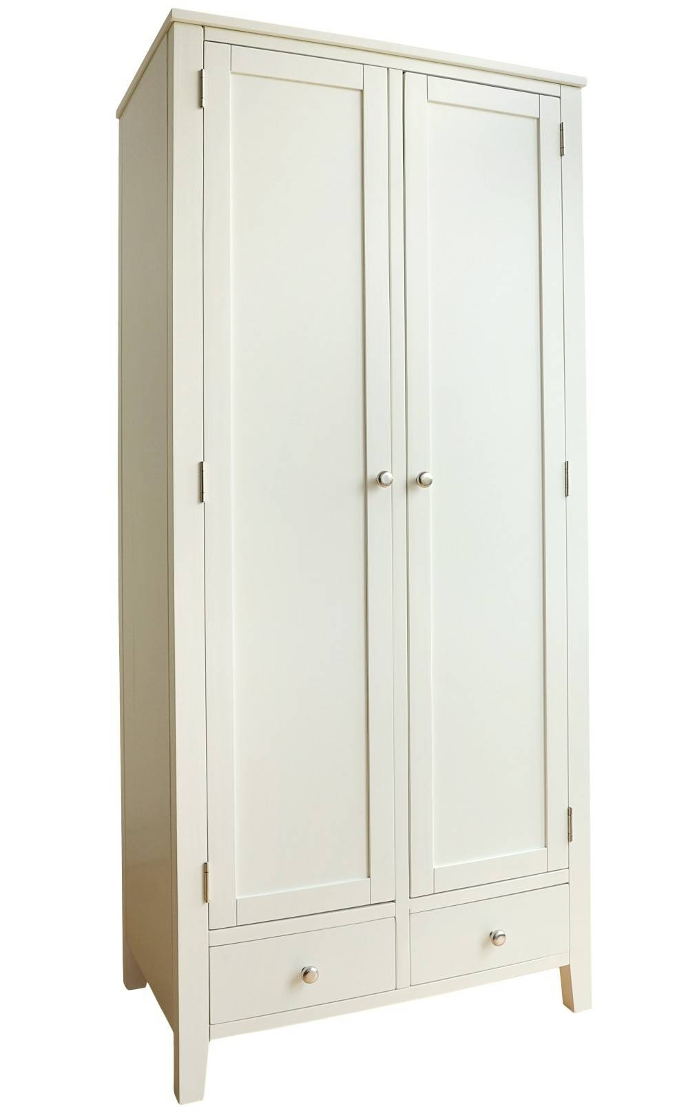Brooklyn Ivory White Double Wardrobe With 2 Drawers| Bedroom intended for White Double Wardrobes With Drawers (Image 2 of 15)