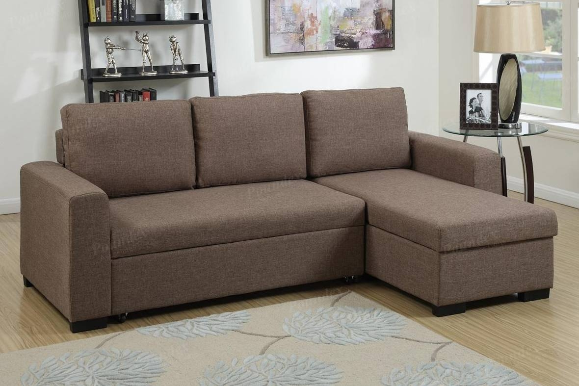 Brown Fabric Sectional Sofa Bed - Steal-A-Sofa Furniture Outlet with regard to Sectional Sofa Beds (Image 4 of 30)
