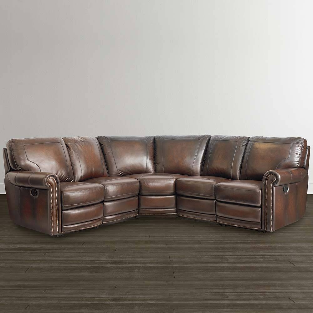 Brown Leather Motion Sectional | Bassett Home Furnishings regarding Motion Sectional Sofas (Image 3 of 30)