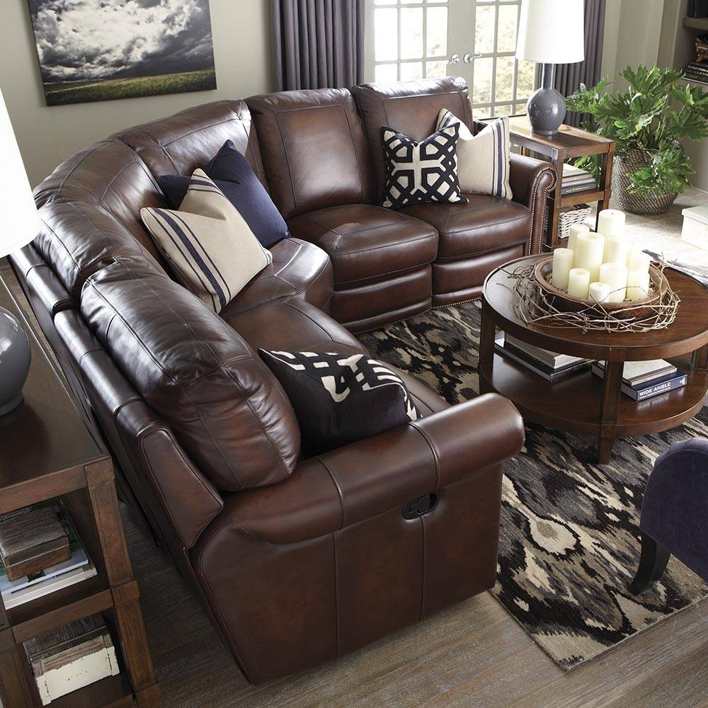 Brown Leather Motion Sectional | Bassett Home Furnishings throughout Leather Motion Sectional Sofa (Image 5 of 25)