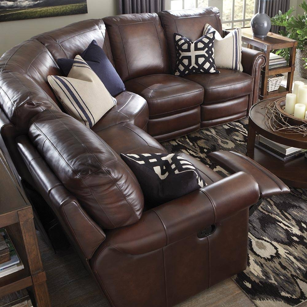 Brown Leather Motion Sectional | Bassett Home Furnishings with regard to Leather Motion Sectional Sofa (Image 6 of 25)