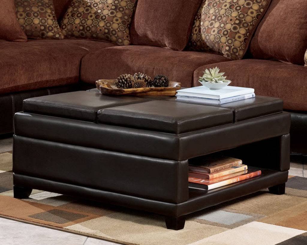 Brown Leather Ottoman Coffee Table Ideas | Eva Furniture Inside Brown Leather Ottoman Coffee Tables (View 15 of 30)