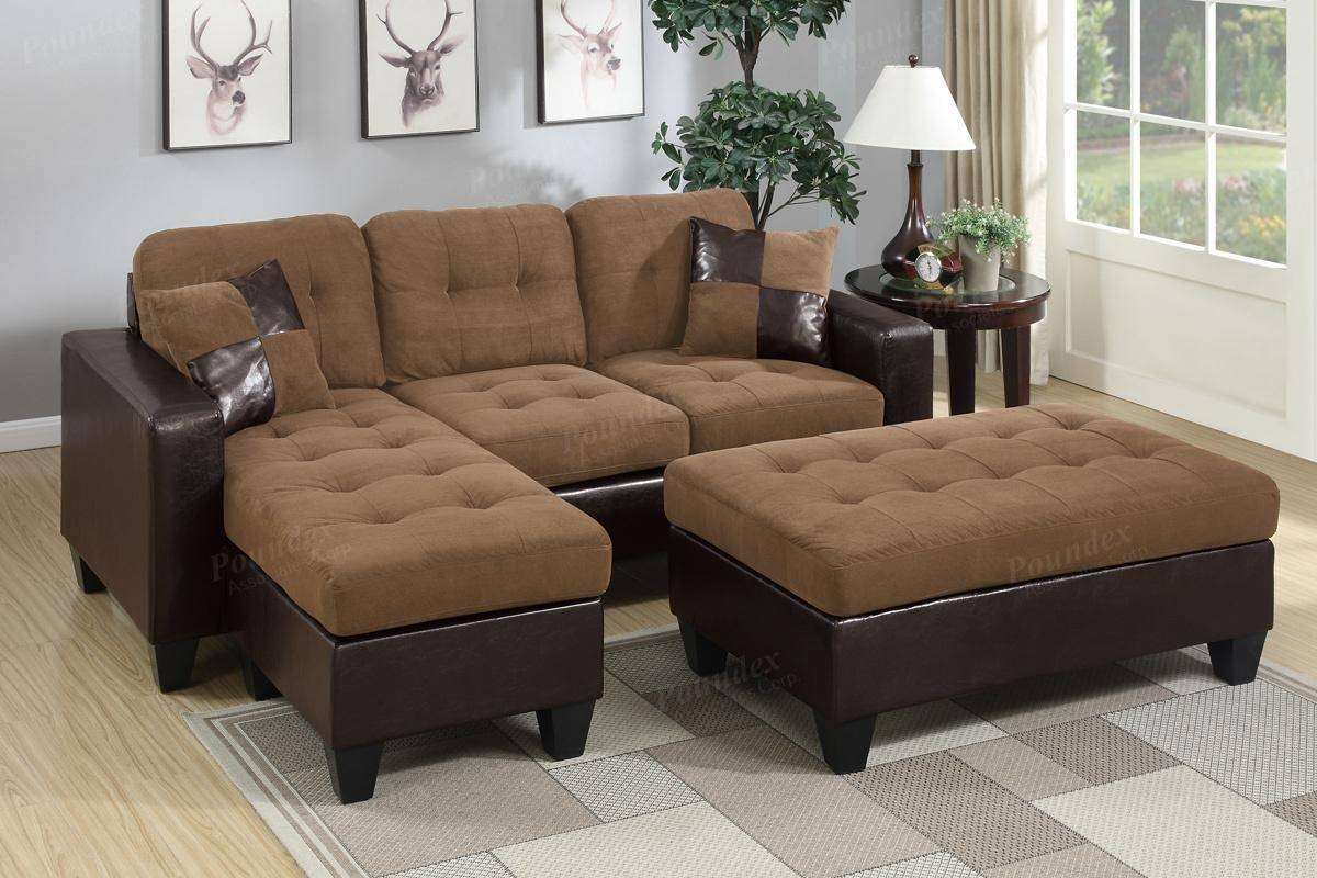 Brown Leather Sectional Sofa And Ottoman - Steal-A-Sofa Furniture with regard to Sectional Sofas Los Angeles (Image 6 of 25)