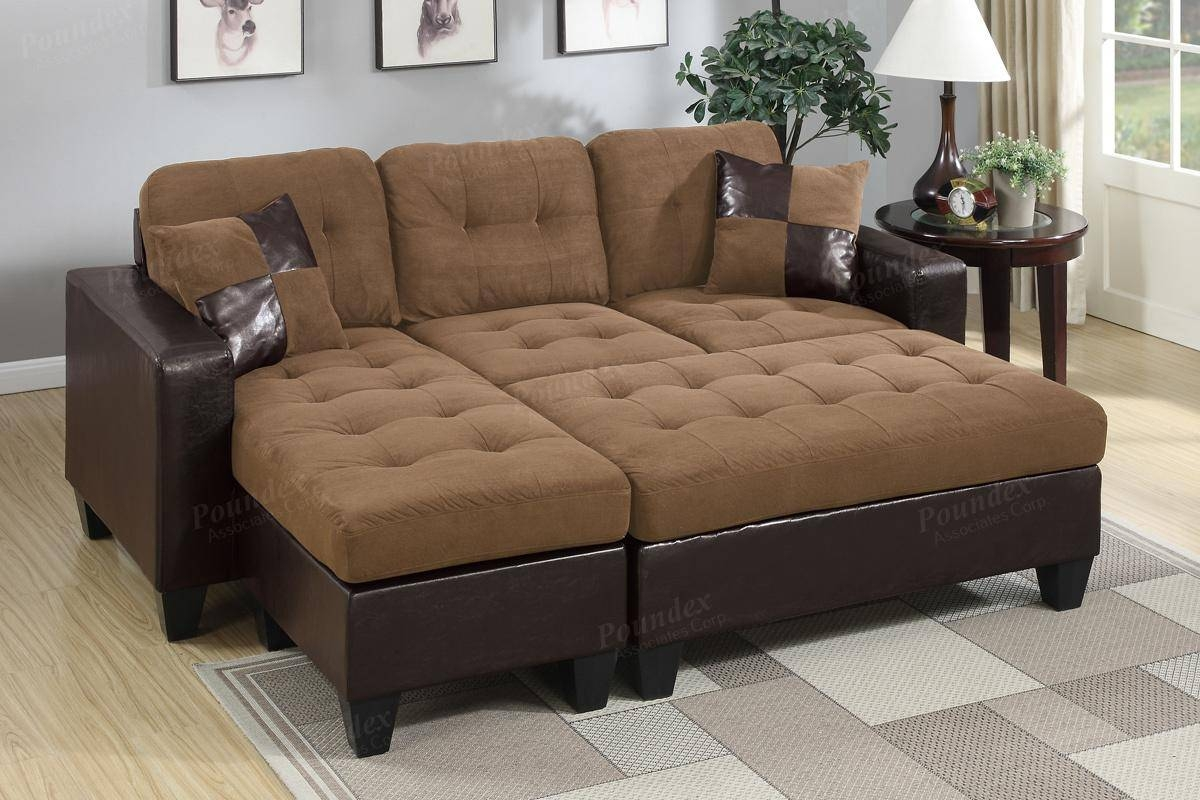 Brown Leather Sectional Sofa And Ottoman - Steal-A-Sofa Furniture with regard to Sofa With Chaise and Ottoman (Image 6 of 30)
