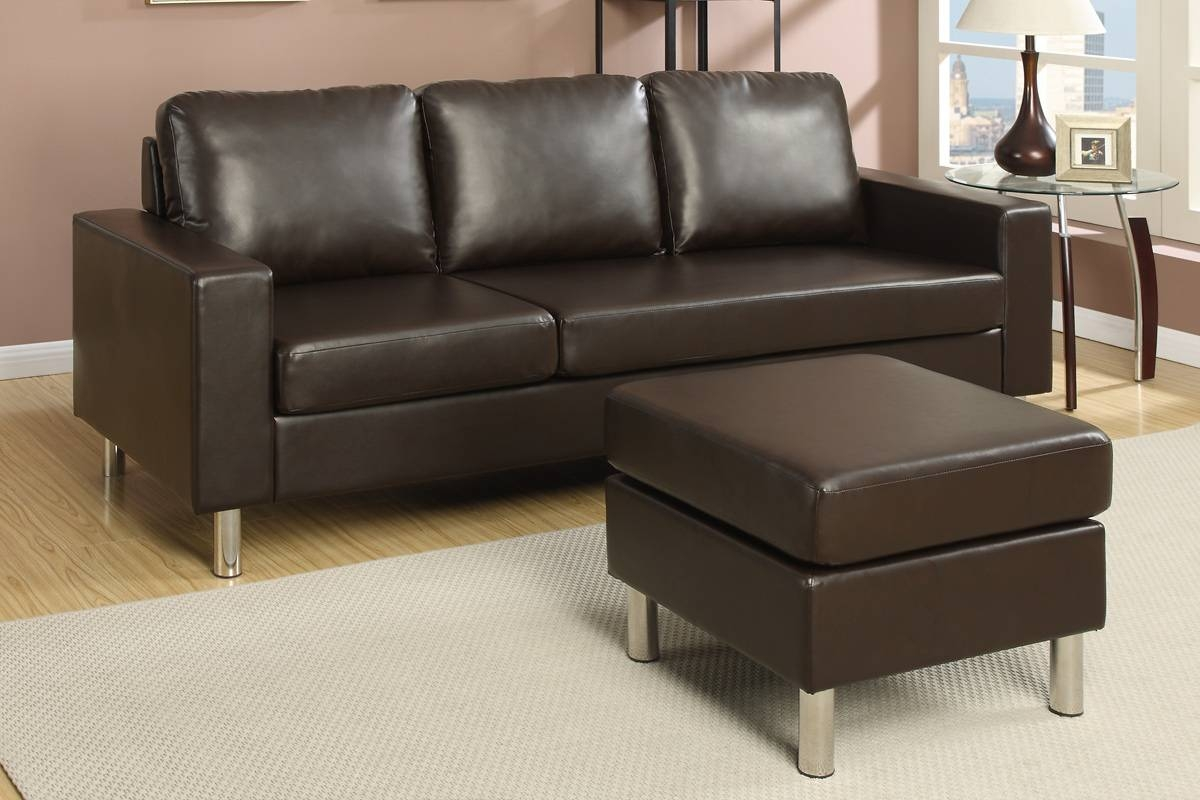 Brown Leather Sectional Sofa - Steal-A-Sofa Furniture Outlet Los within Faux Leather Sectional Sofas (Image 4 of 25)