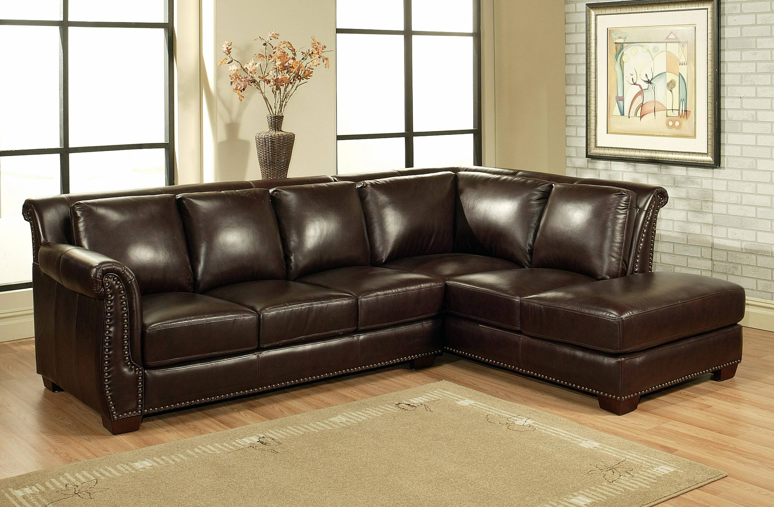 Brown Sectional Couch ~ Uballs with regard to Abbyson Living Charlotte Dark Brown Sectional Sofa And Ottoman (Image 7 of 30)