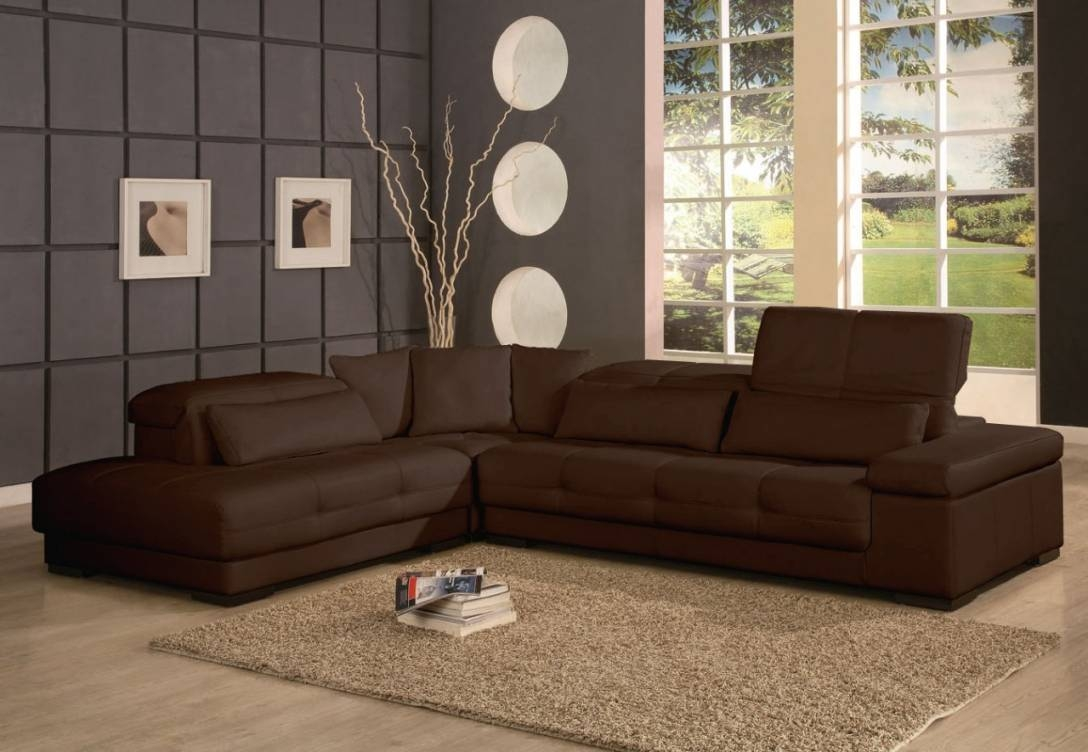 Brown Sectional Sofa inside Chocolate Brown Sectional Sofa (Image 7 of 30)