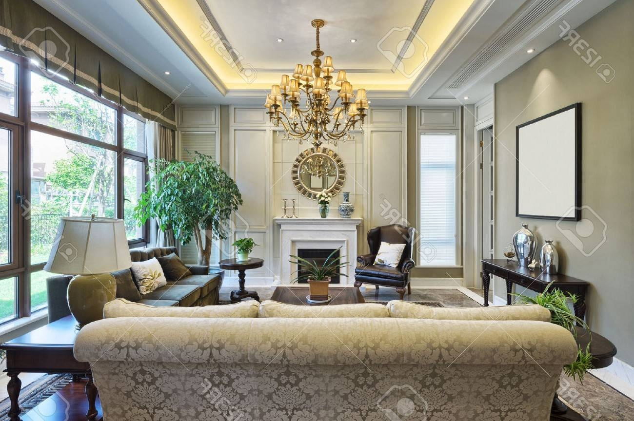 Brown Textured Carpet Cream Colored Sofa U Shape White Ceiling in Cream Colored Sofas (Image 4 of 30)