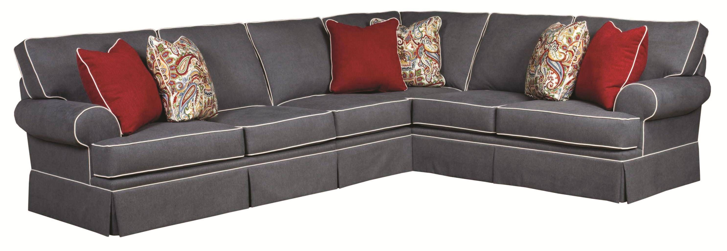 Broyhill Furniture Emily Traditional 3 Piece Sectional Sofa With with regard to Traditional Sectional Sofas (Image 3 of 25)