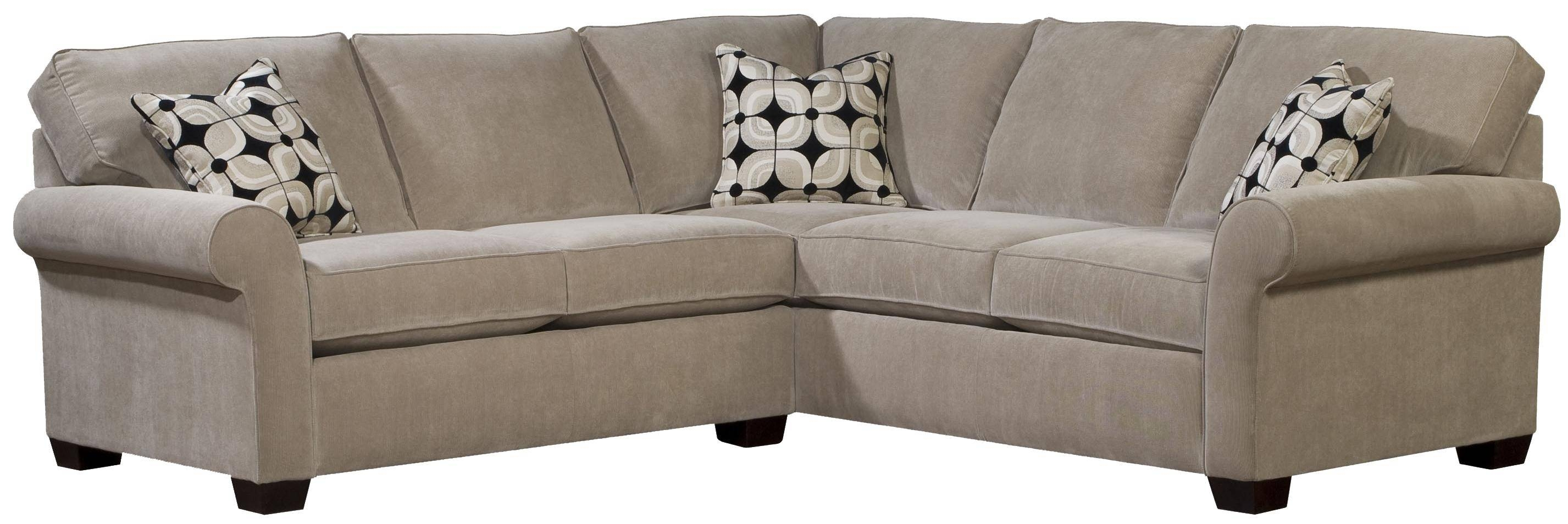 Broyhill Furniture Ethan Two Piece Sectional With Laf Full Sleeper in Broyhill Sectional Sofas (Image 4 of 30)