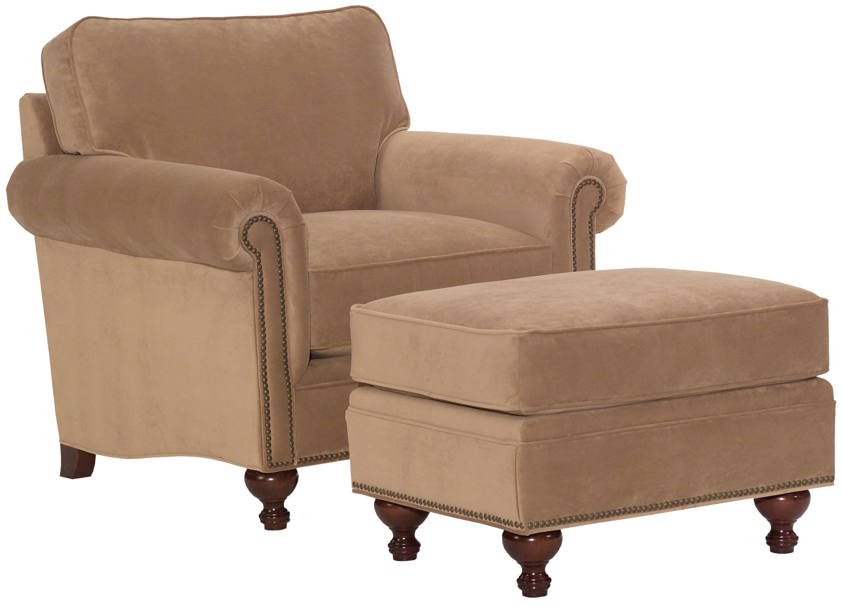 Broyhill Furniture Harrison Traditional Style Chair And Ottoman regarding Sofa Chair With Ottoman (Image 7 of 30)