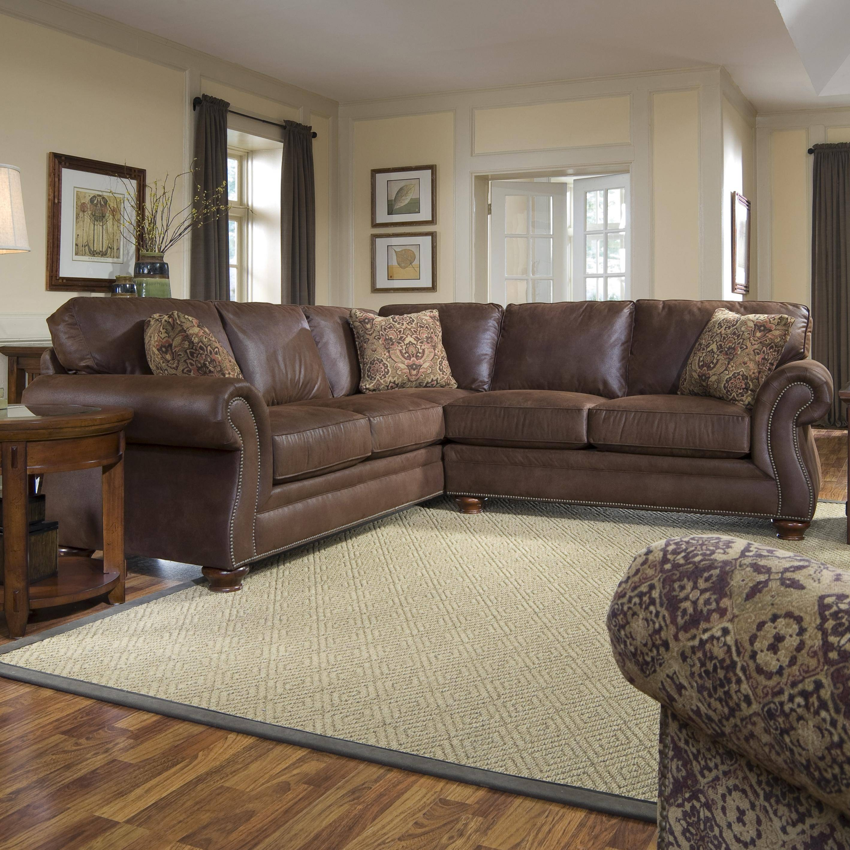 Broyhill Furniture Laramie 3 Piece Wedge Sectional Sofa - Wayside regarding Broyhill Sectional Sofas (Image 8 of 30)