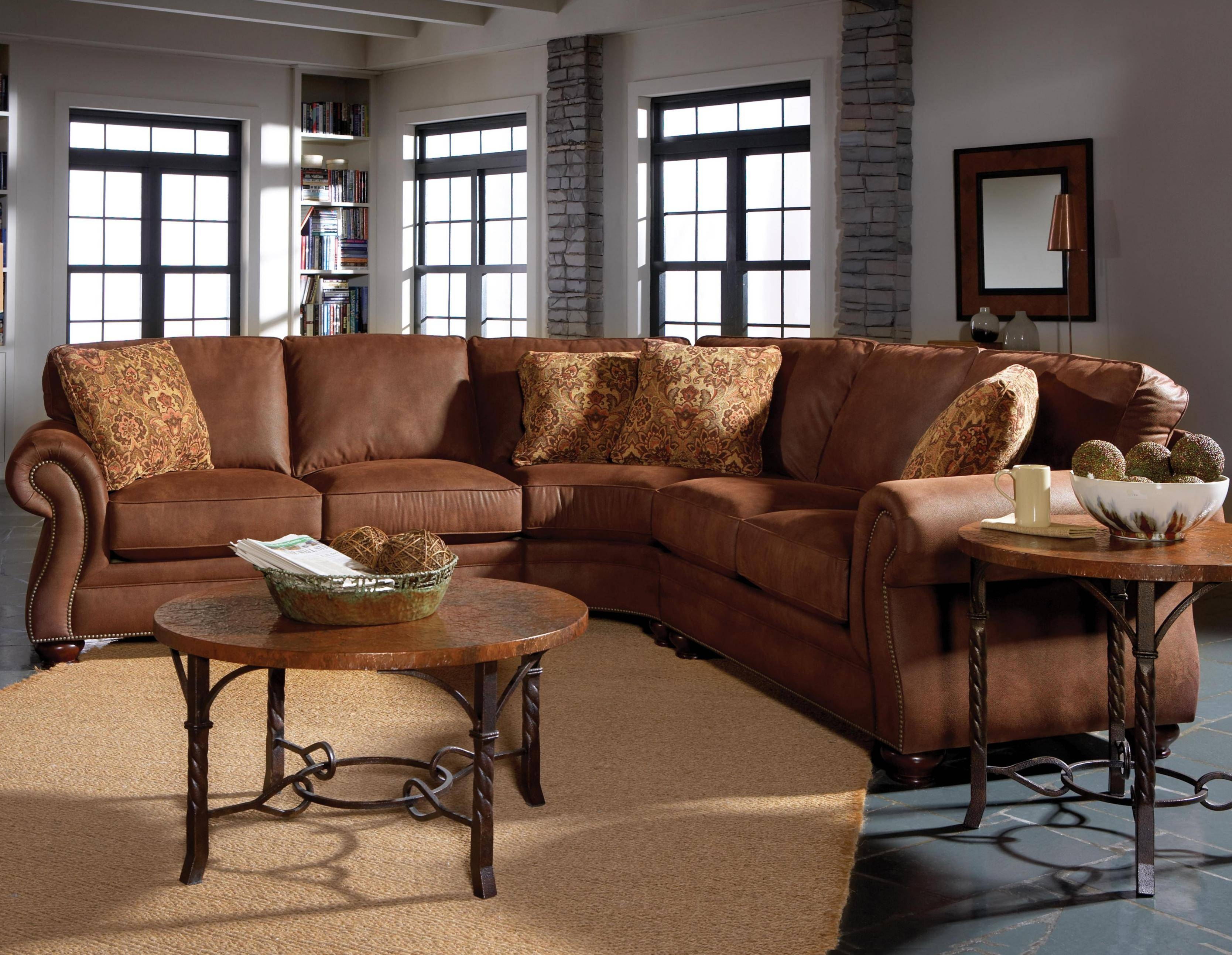 Broyhill Furniture Laramie 3 Piece Wedge Sectional Sofa - Wayside with Broyhill Sectional Sofa (Image 9 of 30)