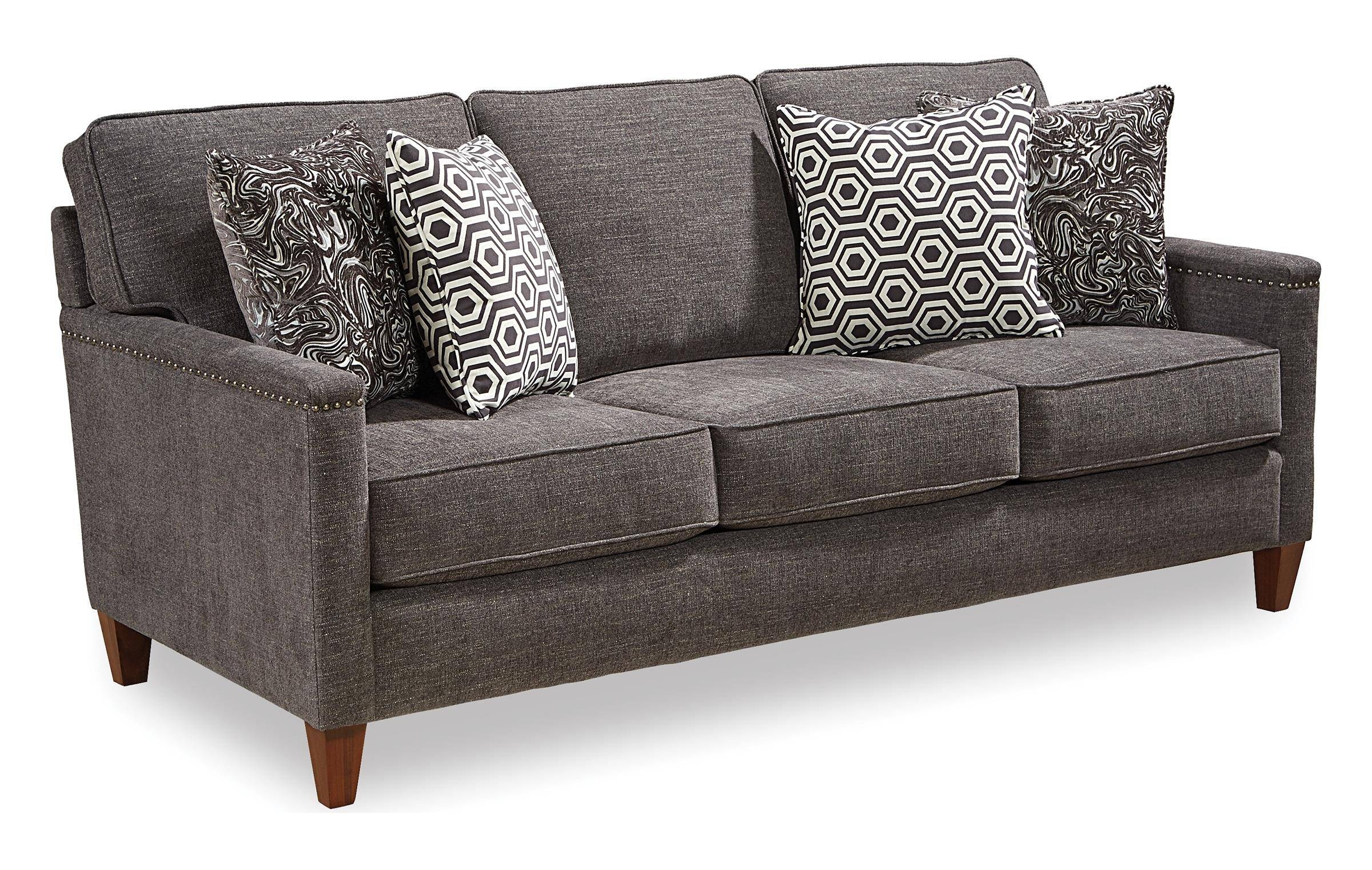 Broyhill Furniture Lawson Contemporary Sofa With Track Arms And pertaining to Broyhill Sectional Sofa (Image 10 of 30)