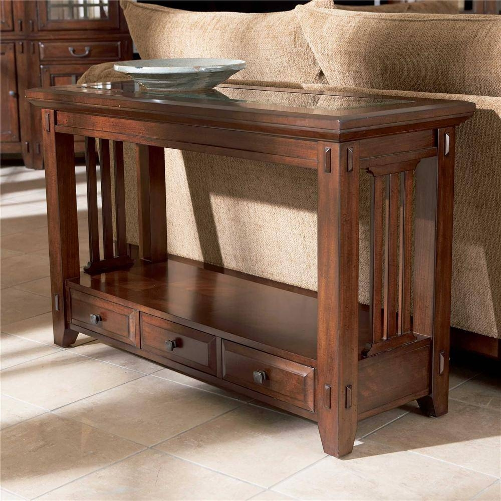 Broyhill Furniture Vantana Three Drawer Sofa Table - Value City pertaining to Sofa Table Drawers (Image 4 of 30)