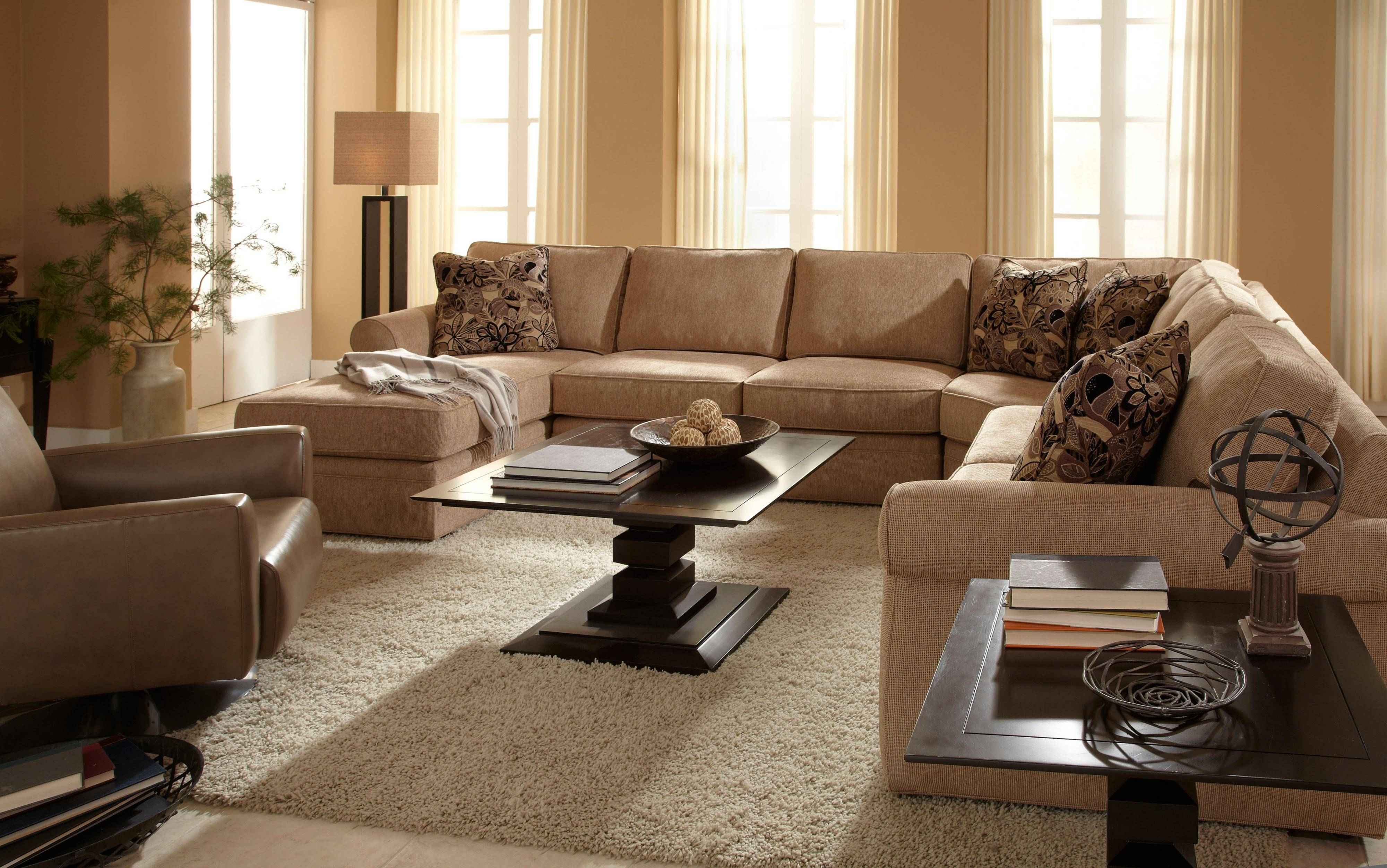 Broyhill Furniture Veronica Right Arm Facing Customizable Chaise in Broyhill Sectional Sofa (Image 14 of 30)