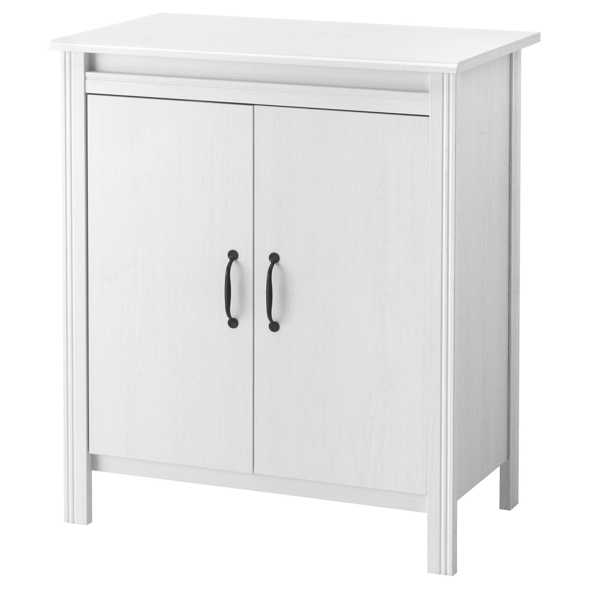 Brusali Cabinet With Doors White 80X93 Cm - Ikea within White Sideboard Cabinets (Image 6 of 30)