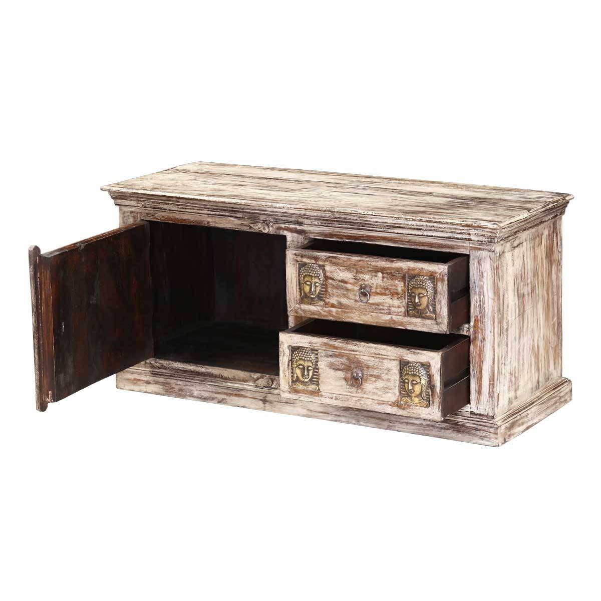 Buddha Mango Wood & Brass Rustic Coffee Table Chest with regard to Buddha Coffee Tables (Image 15 of 30)